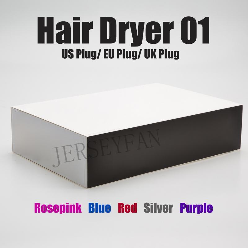 Лучшие Фен с ЕС / США / Великобритания Plug Профессиональный салон Инструменты фена для волос бигуди тепла Быстрая скорость воздуходувок Сухие Фены