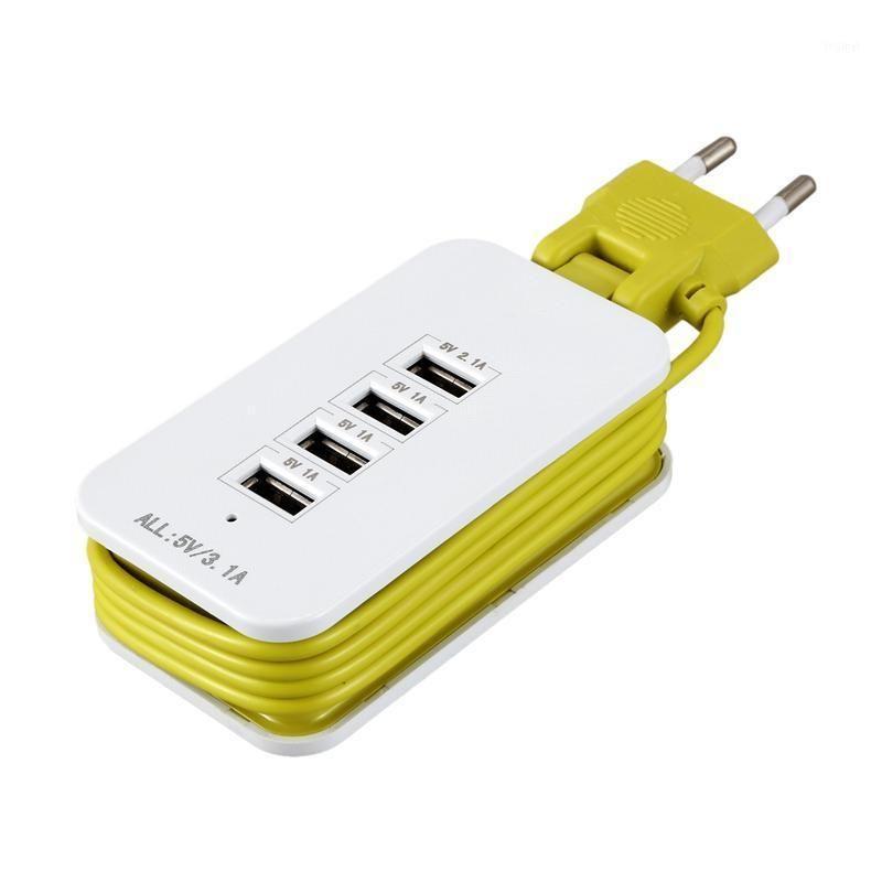 Energia inteligente plugue adaptador de carregador de parede universal 4 porta USB 3.1a extensão tomada de tomada