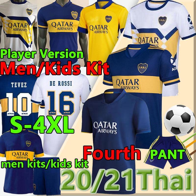 2020 2021 Boca Juniors Fussball Jerseys Viertel Tevez Maradona de Rossi Fans Spieler Carlitos Gago Camiseta de Fútbol Osvaldo Dritter Shorts Polo