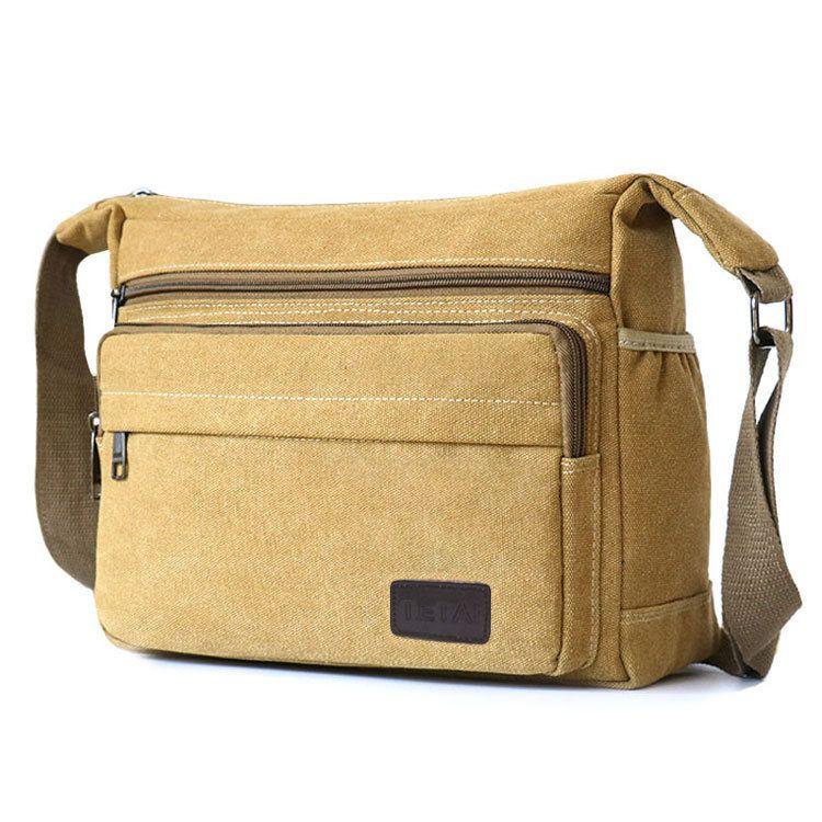 Canvas Large Leisure Sports Messenger Men's Backpack Fashion Official Cross Shoulder Single Bag Lfnru