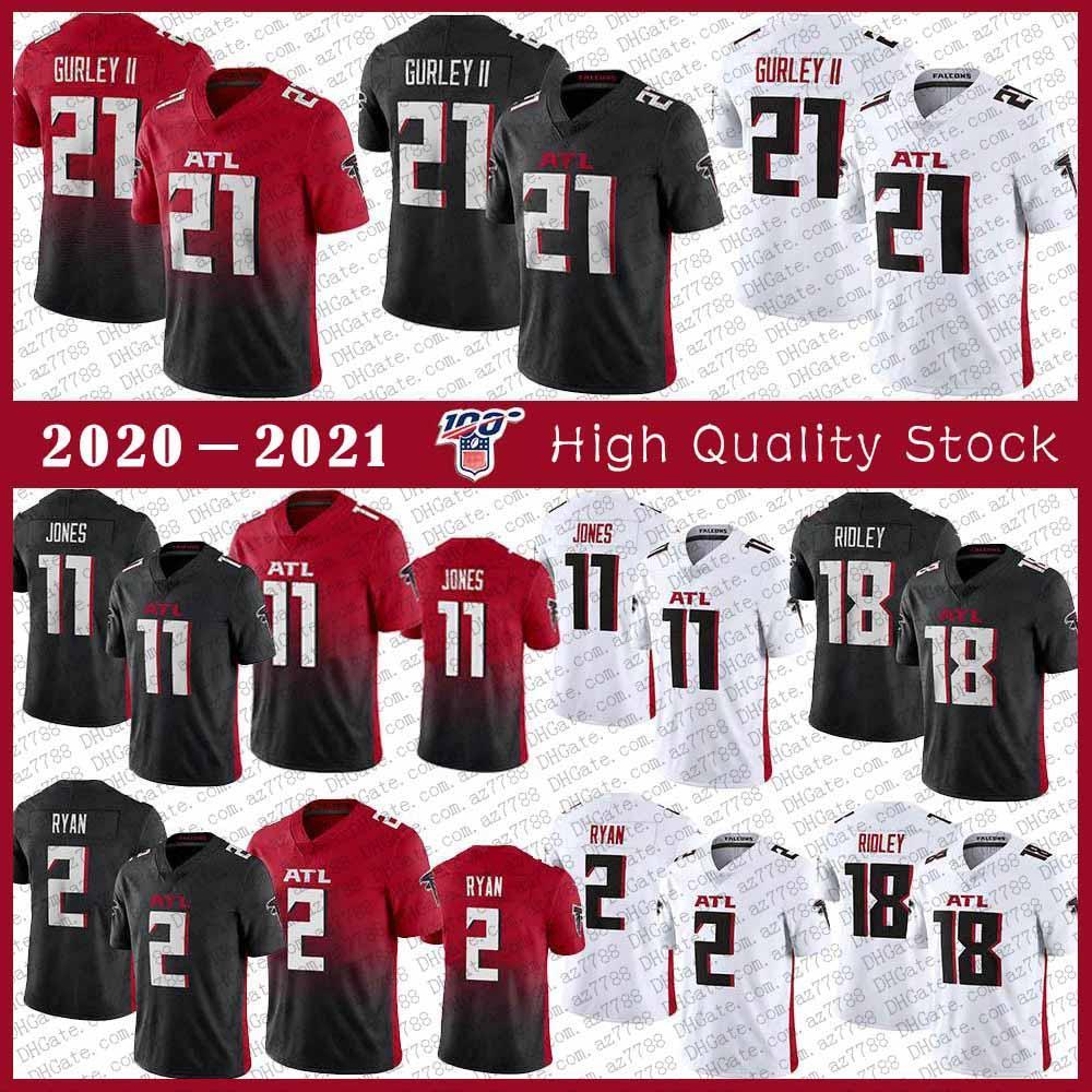 21 تود غورلي II أتلانتاالصقر 2020 الجديدة لكرة القدم جيرسي 11 جوليو جونز 2 مات رايان 18 ريدليقمصان الصقور مخيط
