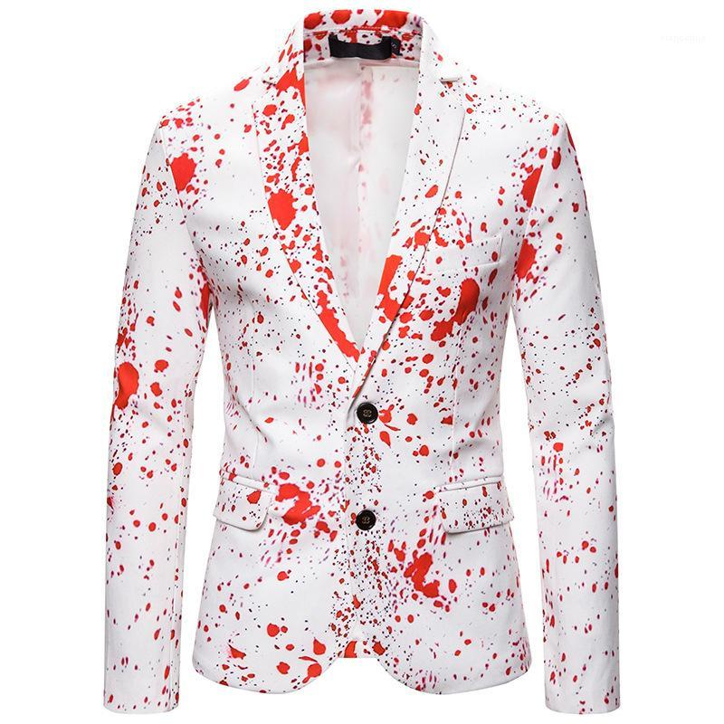 Herren Revers Hals Einreiher Oberbekleidung Mode Herren Slim Anzug Krawatte Dye Mens Blazer Langarm