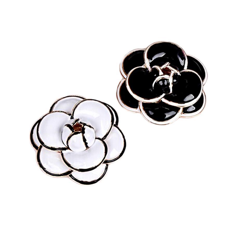 Высококачественные эмаль Camellia Цветочные броши для женщин Lady Wedding Ювелирные Изделия Bridal Букет Бруши Мода Брошь Pin Party Gifts