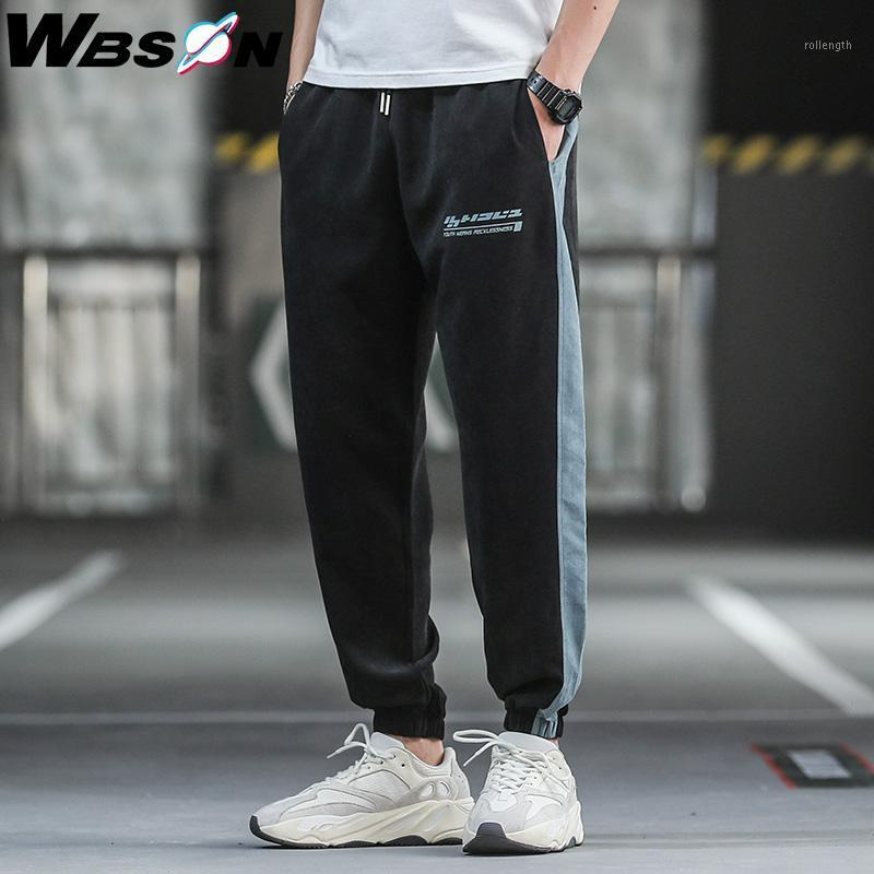 Wbson 2020 Harem Calças Homens Streetwear Pant Jogger Casual Calças de Moda Masculino Harajuku Streetwear ZX05011