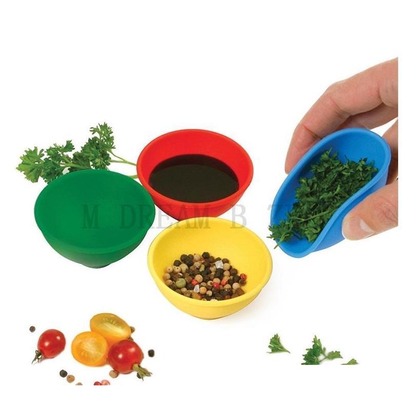 19 Цветов Sile Mini Приправы Чаша Многофункциональный Послушайте Чаша Pinch Bowl Для Концентрата Бутан Slick Oi SQCTUT NEW_DHBEST