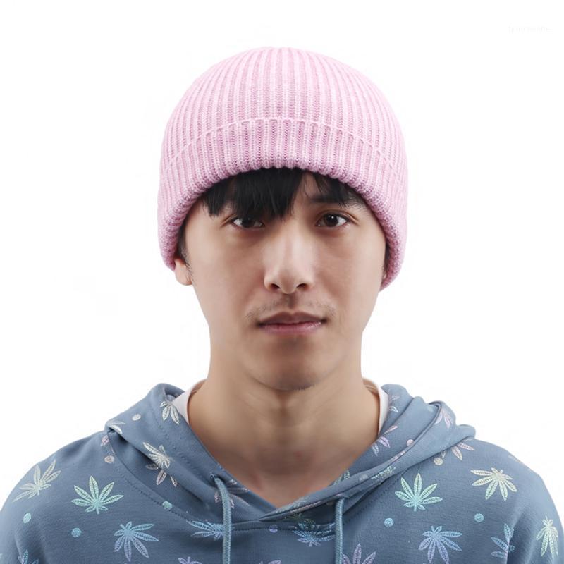 2020 nuevos sombreros de moda en otoño e invierno Color sólido Sombreros de cachemira cálida con capucha tejida lana1