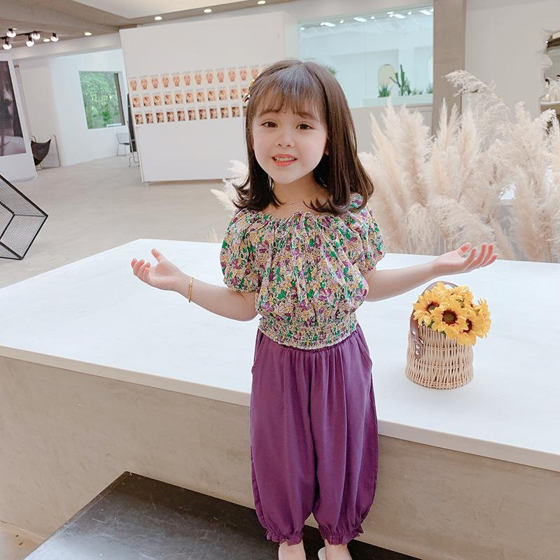 INS Lovely Kids Girls Summer Clothes Set Short Sleeve Tshirt+Pants 2pieces Girls Outfts Sets Children Clothing Tracksuit