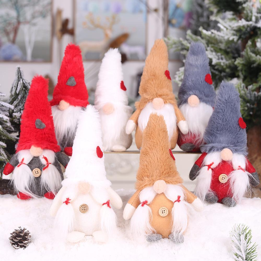 크리스마스 수제 스웨덴어 그놈 스칸디나비아 Tomte 산타 Nisse 북유럽 봉제 엘프 장난감 테이블 장식 크리스마스 트리 장식 w-00323