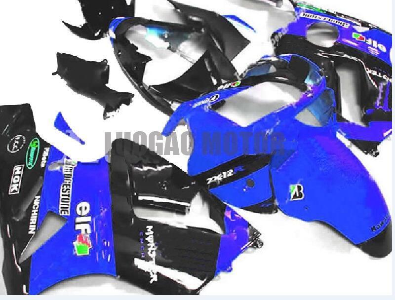 5gifts Injektion Zx 12r 2002 Body Kits für Kawasaki ZX12R 02 05 03 04 blau Schwarz Motorrad-Karosserie ZX12R 2002 2003 2004 2005 2006 Fairings
