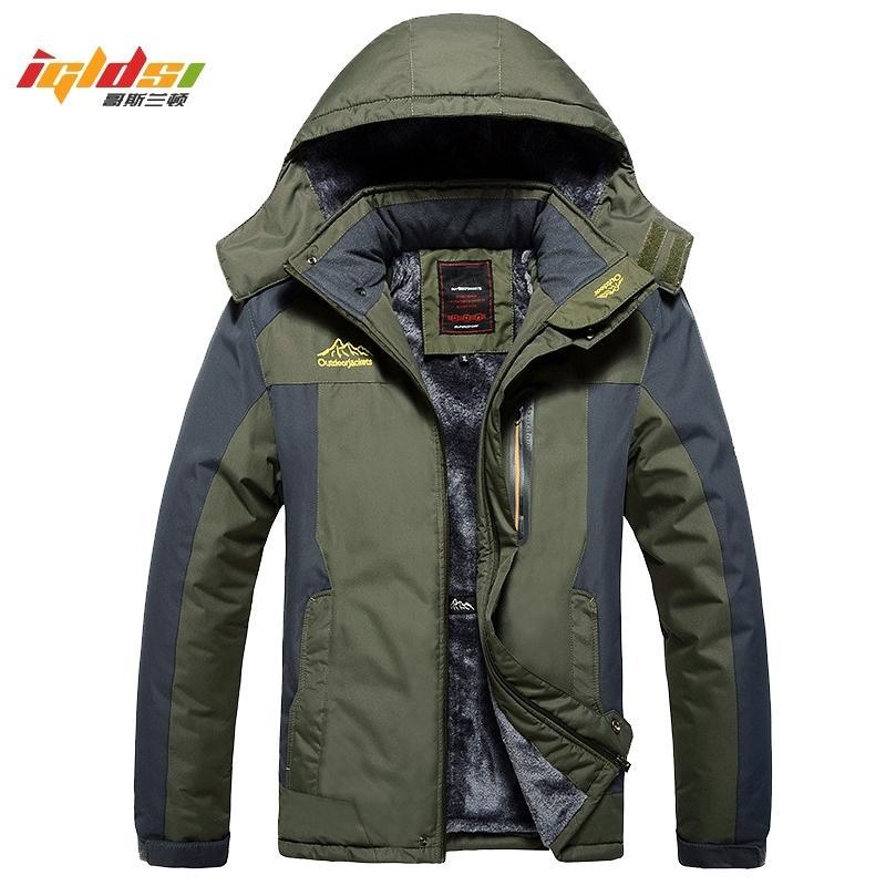 Inverno jaquetas militares Men Fleece Coats Windproof impermeável corta-vento Outwear baixo Exército Parka Raincoat Plus Size 7XL 8XL 9XL 201110