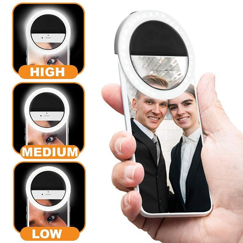 ring light selfie USB makeup light LED ringlight video ringlight photographic lighting with Charge ring for photo phone