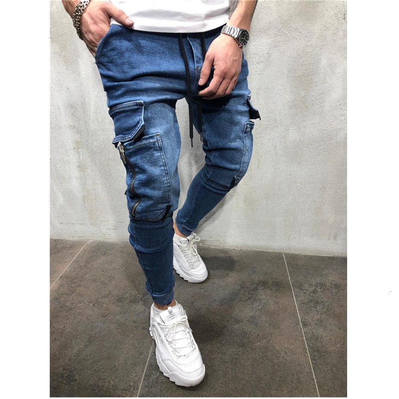 2019 homens hip hop lavar calças esportivas casuais