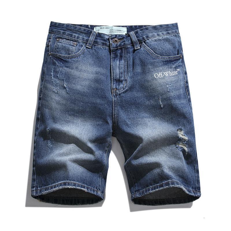 Summer NOUVELLES 20SSSOW Lettre de la marque Virgin Arrow Virgin Shorts de Denim