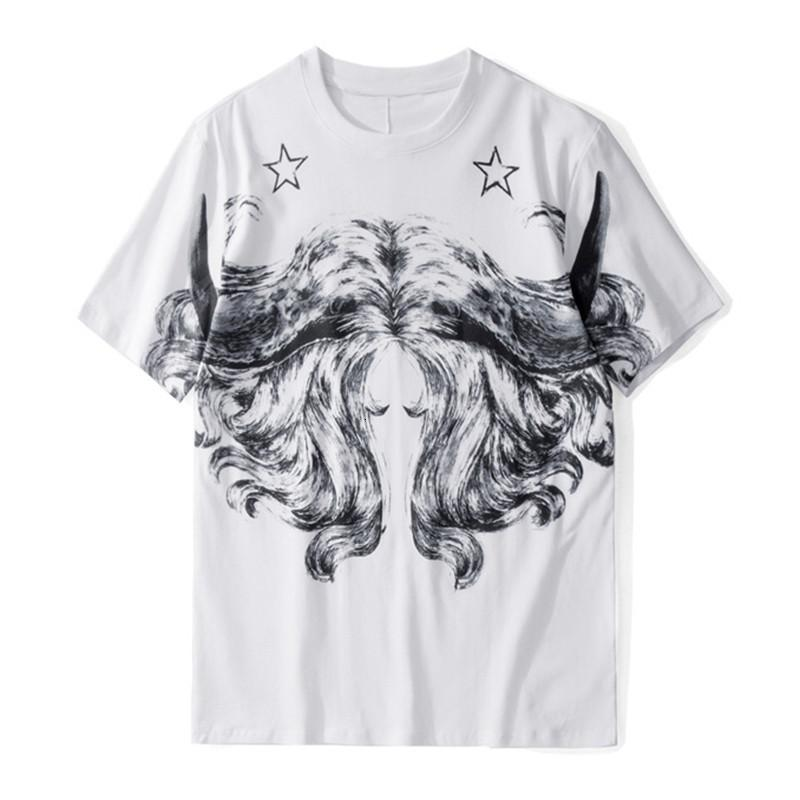 Moda para hombre estilista camisas casual verano mangas cortas de alta calidad mujeres camiseta