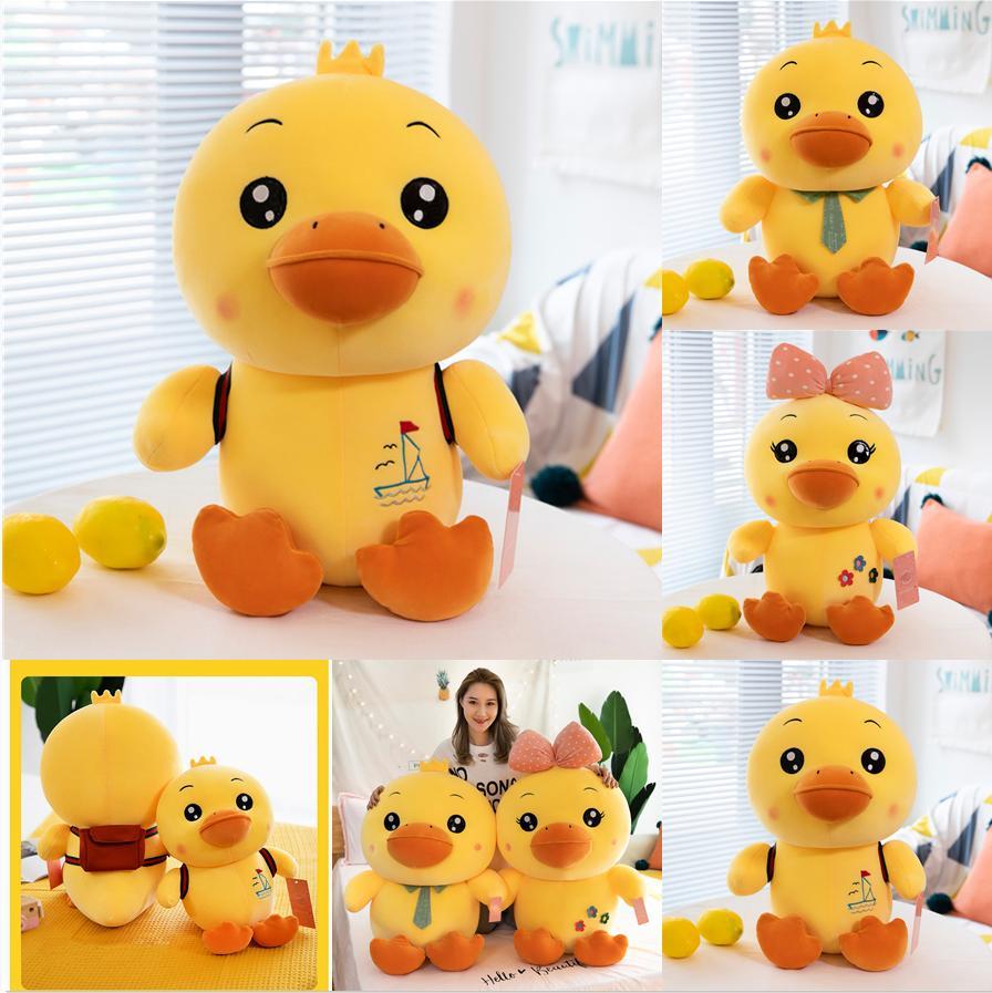 Vente chaude 30cm jouets en peluche mignon tiktok jaune canard jouet peluche peluche peluche enfants poupée poupée poupée cadeaux de Noël