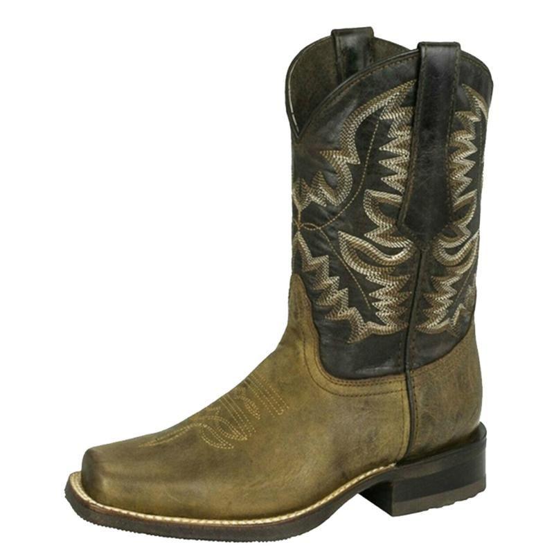 Саговые сагусы ковбойские женские туфли осень зима кожа мода квадратный носок скольжение на женские роты розетки женщины Hiversagace Co