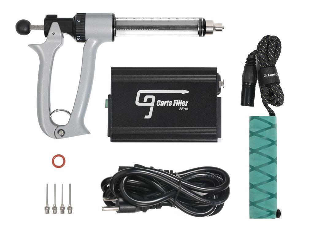 100% Otantik GreenlightVapes G9 Dolum Tabancası Makinesi Kalın Yağ Yarı Otomatik Vape Dolgu Cihazı 510 Konu Kalem Sepetleri Kartuş