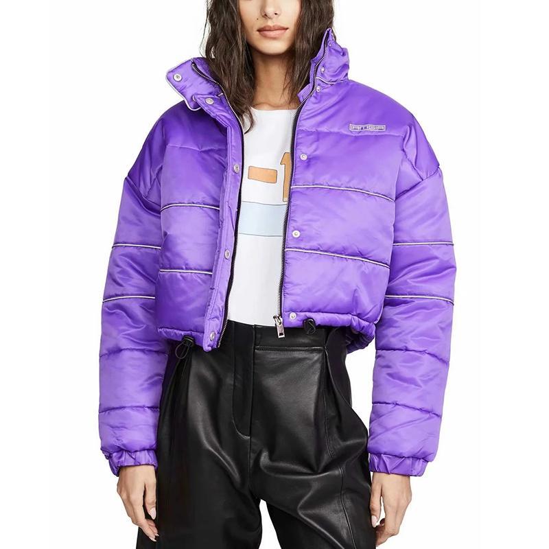 Winter Jacket Women Coat Parka Reflective Cotton Padded Warm Streetwear Women Winter Coat 210203