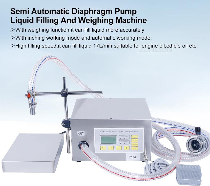 DHL GRÁTIS! 150ml-17l semi automático líquido pesando máquina de enchimento de óleo comestível diafragma bomba de frasco de água qh-g62a