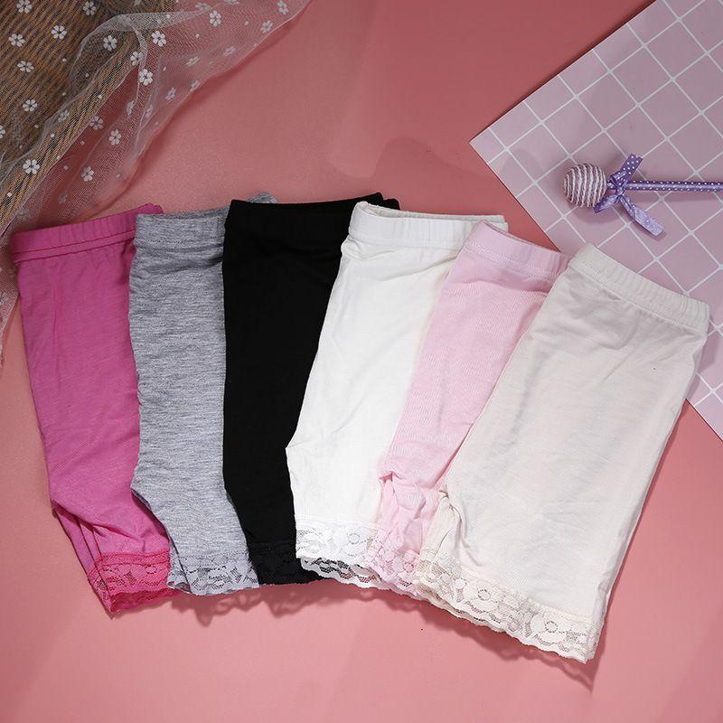 Niños modales de algodón pantalones cortos de moda encaje cortos leggings para niñas pantalones de seguridad para niñas pantalones cortos para bebés niñas pantalones de seguridad para niñas pantalones cortos de la intención 356 k2