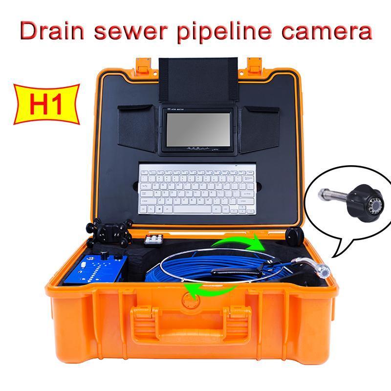 120degree Boru Duvar Gözlem Kamerası H1 Su geçirmez HD 1080P Gece Görüş Metre Sayımı ile Kanalizasyon Endoskop Sistemi Tahliye