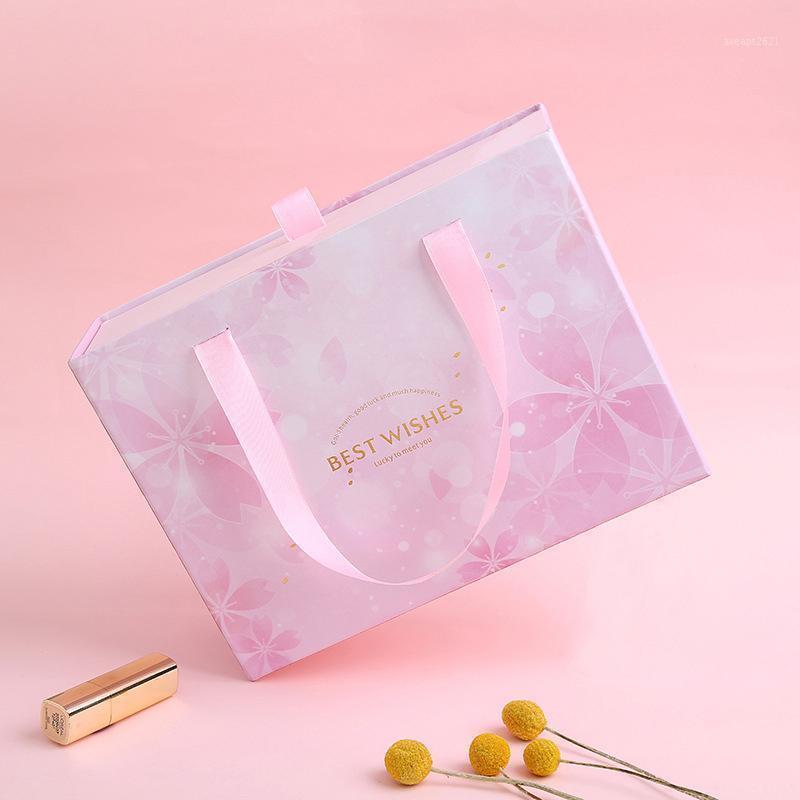 Portable Advanced Hard Cardboard Box regalo del cassetto del cassetto del regalo di imballaggio dell imballaggio di imballaggio delle coppie Decorazioni del partito della partita del partito di imballaggio1
