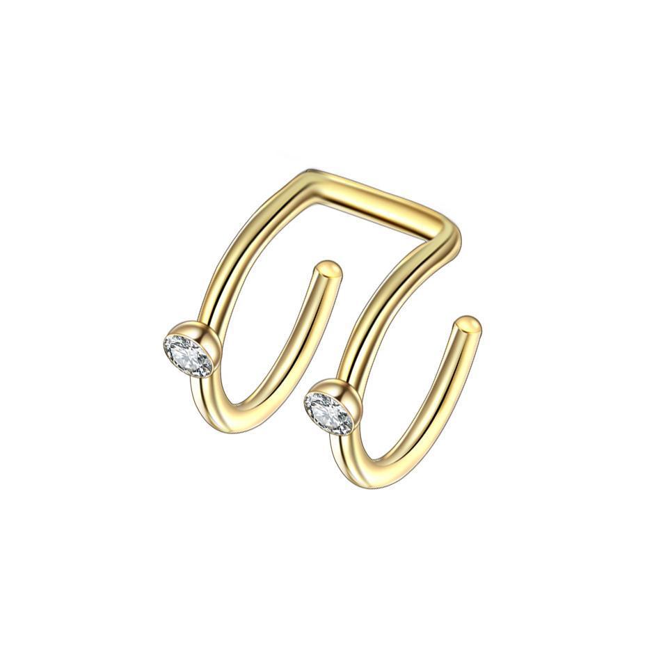 3Paies Нержавеющая сталь Зажим на обертку Серьги Tragus 2 кольца уха манжеты зажима носовые кольца поддельных пирсинговых корпус ювелирные изделия серьги для q jlldit