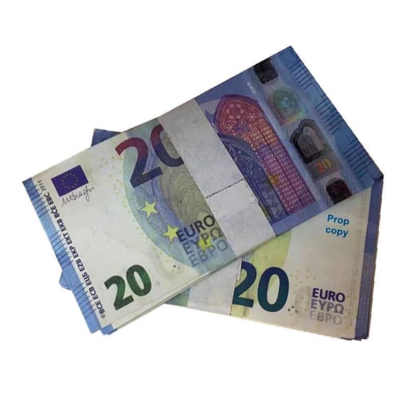Top Quality 20Euro Nightclub Bar Atmosphere Prop Money Faux Billet Fake Movie Garden Billet Euro 10 Play Money Crafts LR07