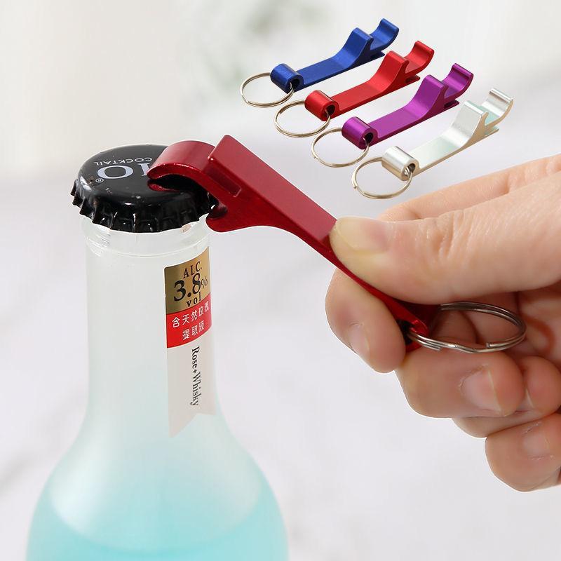 سبيكة الألومنيوم سلسلة المفاتيح مطبخ فتاحات زجاجة أدوات المبدع صغيرة فتاحة النبيذ زجاجة بيرة فتاحة المنزلية الشخصية المحمولة المفاتيح