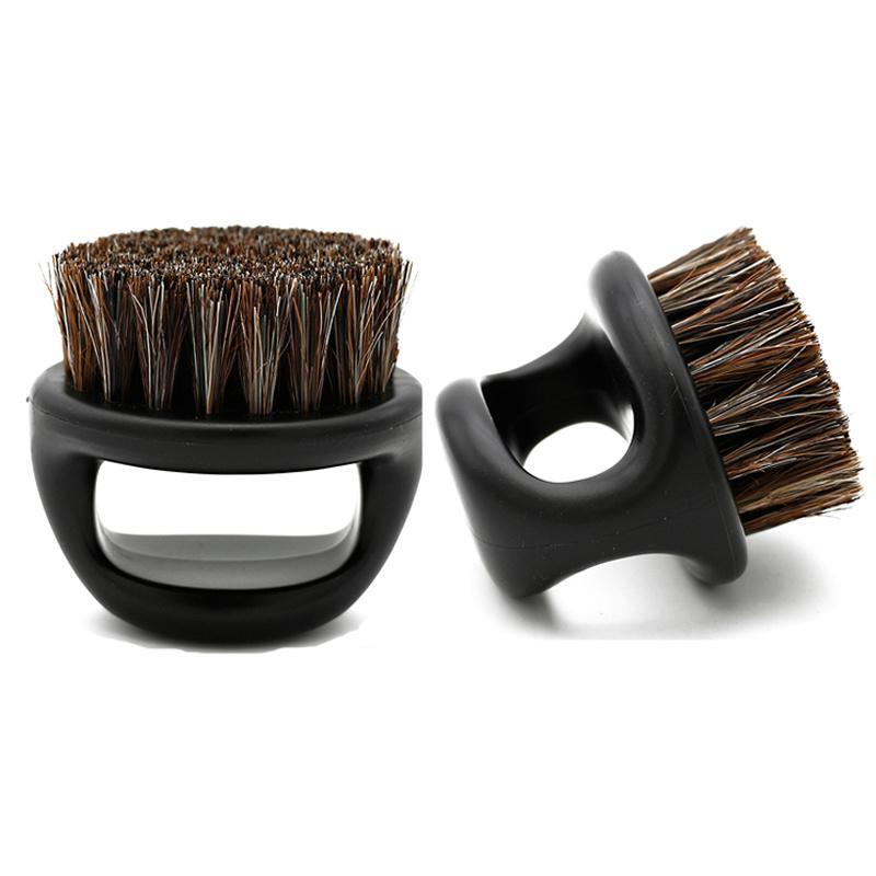 Pro Parrucchiere polvere pennello Anti statico setole di cinghiale Anello Barba pettine Hair Salon Sweep pennelli da barba o baffi Baffi Brush Uomo