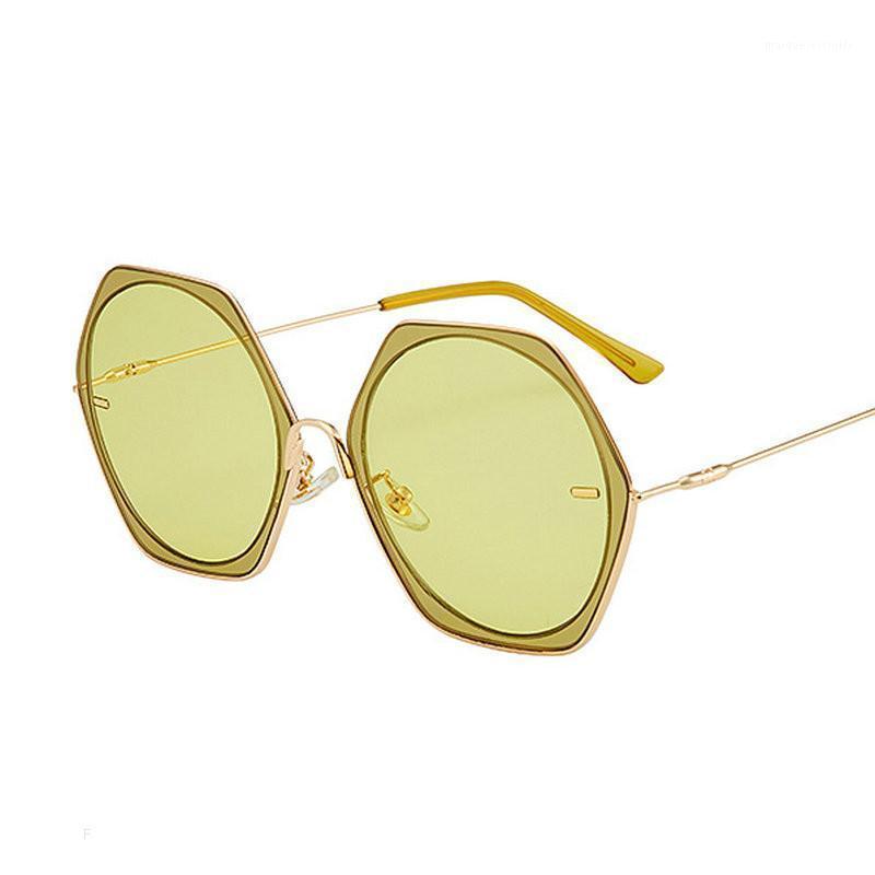 Lunettes de soleil olygonal Soleil 2020 Style de mode Femmes Lunettes Lunettes Femme Métal Cadre FML1 Vintage Lens Retro Clear RBRHJ
