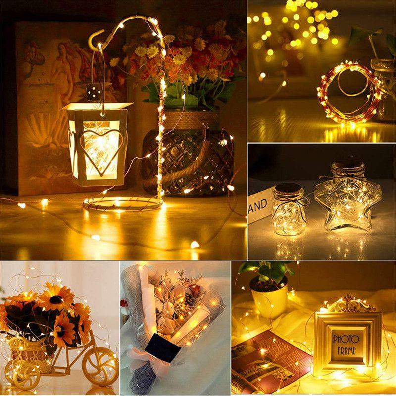 2m LED String Luzes de Prata Fios de Natal Garlandas Festo de Fada Luz de Fada Decorações de Natal para Decoração de Festa Home