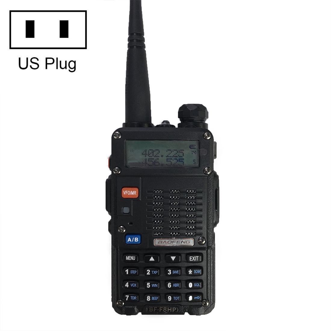 Baofeng BF-F8HP 8W двухдиапазонный двусторонней радиосвязи УКВ Handheld Walkie Talkie штепсельной вилки США