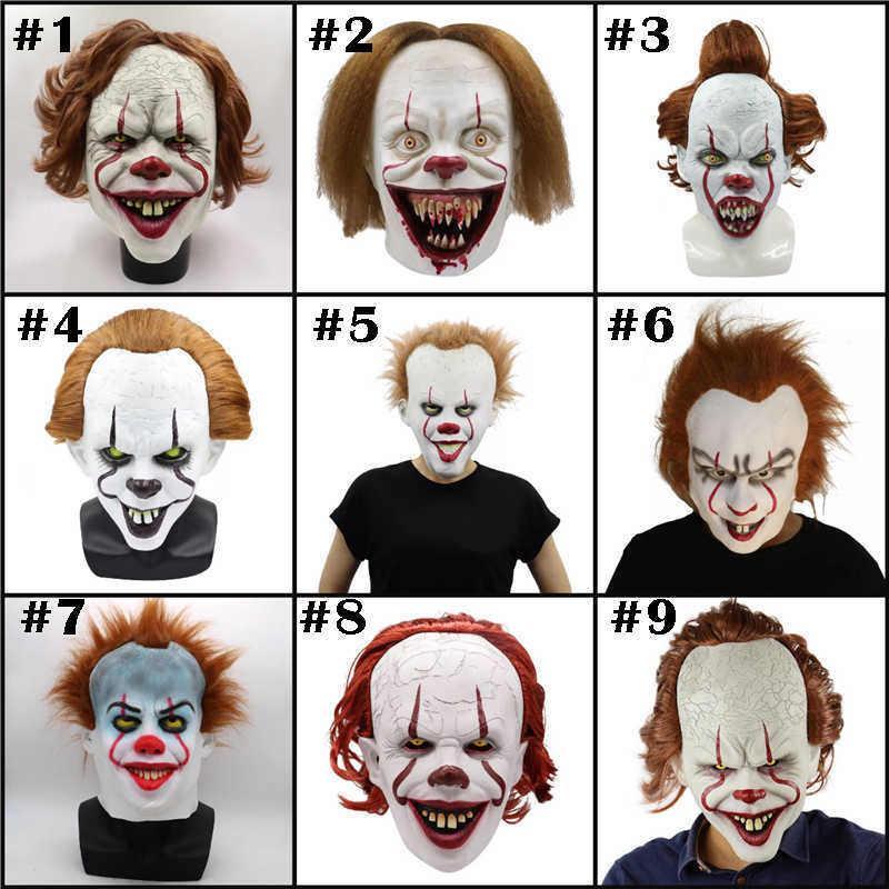 Halloween Horror Props máscara de palhaço Filme Peripheral palhaço assustador Máscara Voltar máscara do partido Full Face Alma