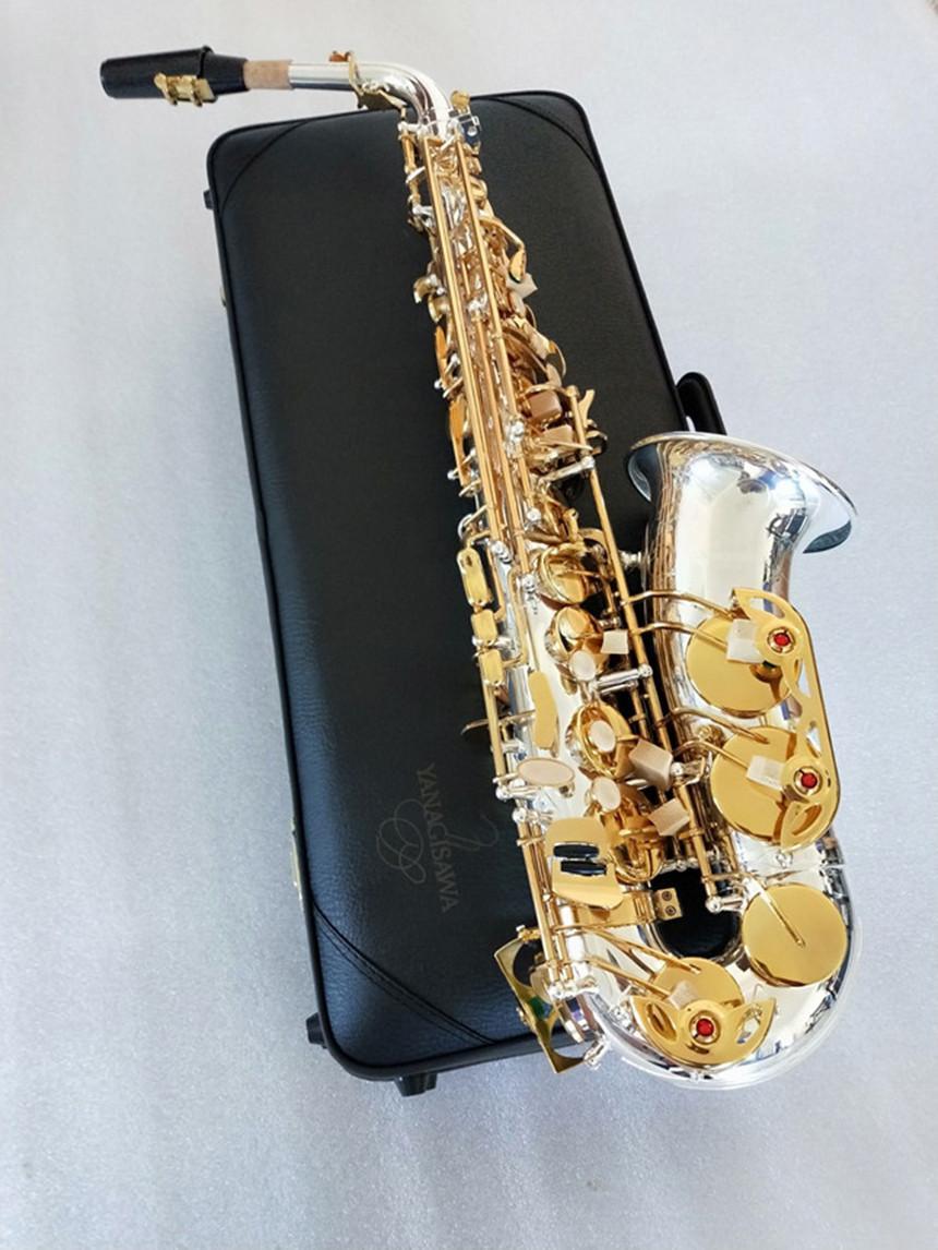 ياناجيساوا العلامة التجارية الجديدة A-WO37 ألتو ساكسفون فضة مطلية بالذهب مفتاح المهنية ساكس مع الناطقة بلسان حالة عالية الجودة الموسيقية