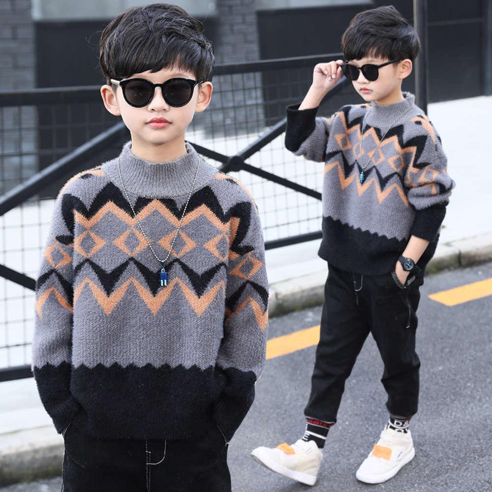 Big 2020 SLU New Kids 'иностранная осень и зима норка кашемировые мальчики детский утолщенный свитер пуловер QE8O24FX