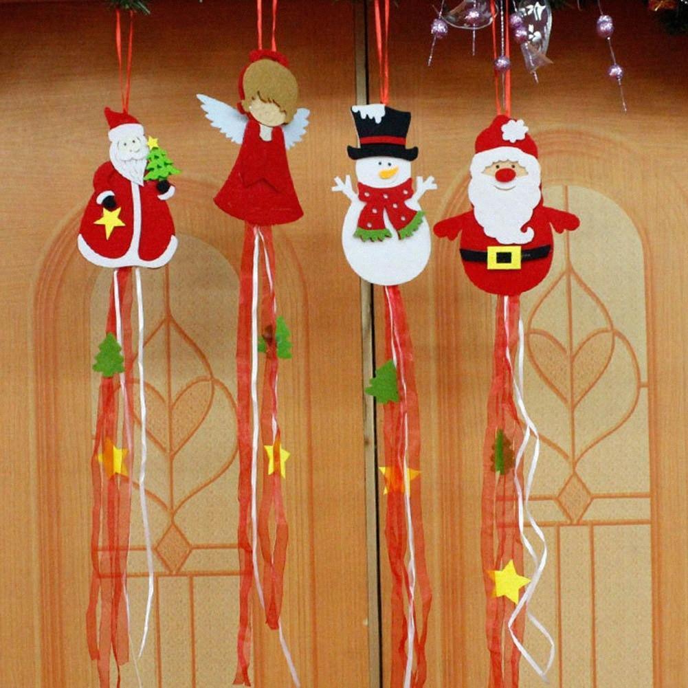 Neujahr Weihnachtsschmuck-Anhänger Weihnachtsmann Weihnachts Anhänger mit Band Weihnachtsbaum Tür Wandbehang Tropfen icg8 # Hanging
