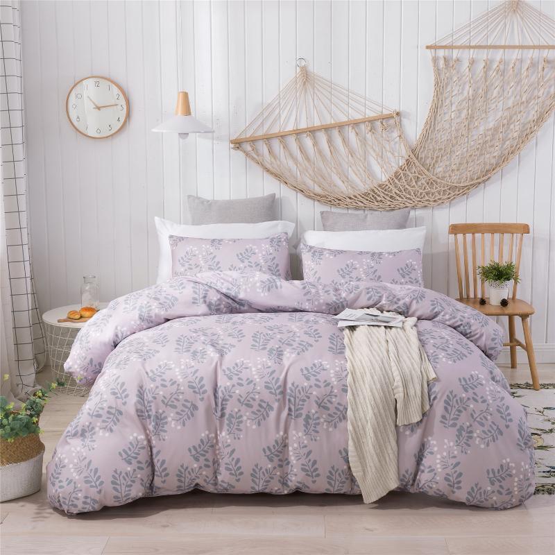 Romântico impressão da capa do edredon Consolador cama jogo de cama edredon cobrir Set Bedclothes Caso Bed Pillow Têxtil Rainha Início Rei