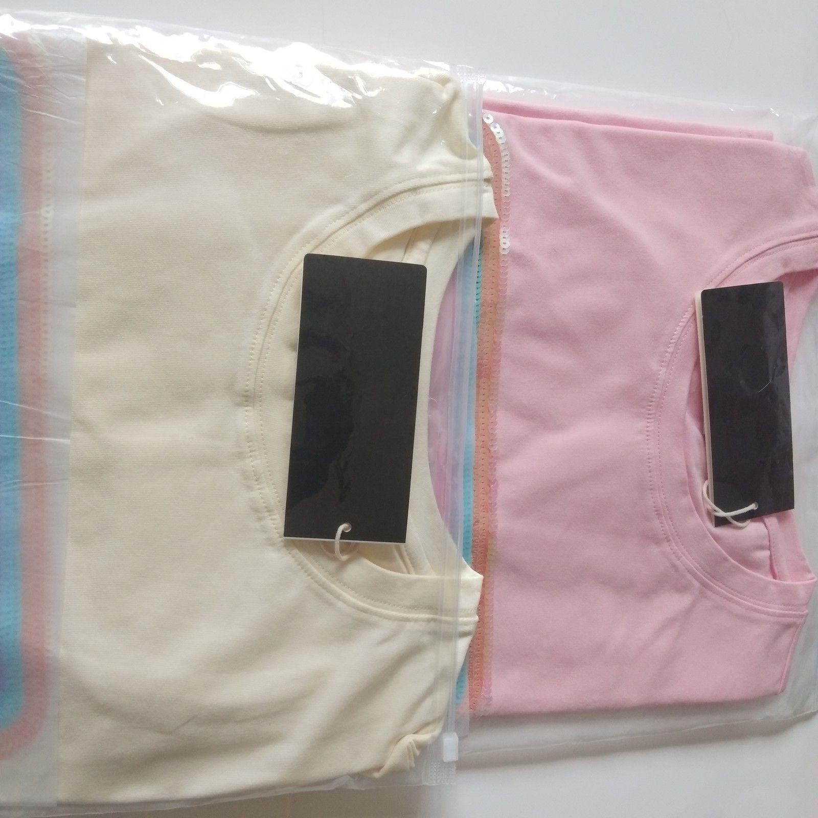 2020 Neue Frauen Luxus Brustbuchstabe Helle Kurzarm T-Shirt Mode Designer T-Shirt Lose Frauen T-Shirt Freies Verschiffen