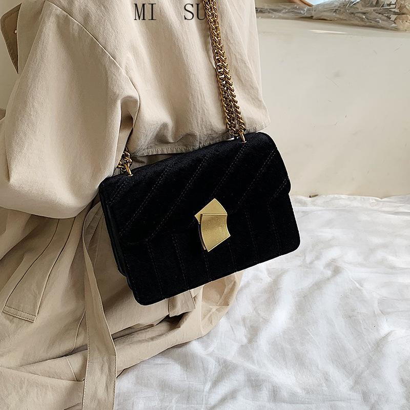 Bolsos de noche bolsas de mujer Diseñador Messenger Hombro Cadena de hombros Embrague Bolsa Terciopelo para 2021 Crossbody Luxury Vintage Nobxl