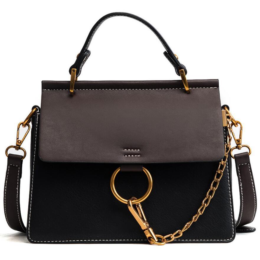Designer- bolsa de moda alta bolsa mulheres vintage pu mulheres contraste qualidade de couro tote 2021 simples novo ombro mensageiro sacos nmuip