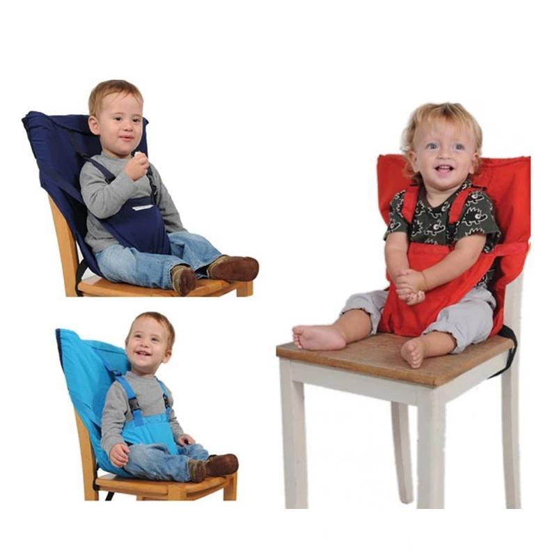 Portable del bebé Asiento niños Silla plegable de viaje lavable infantil Comedor cubierta del cinturón de seguridad Alimentación Trona envío DWD2133