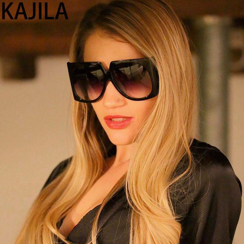 Gafas de sol de gran tamaño Mujeres Sombras de alta calidad UV400 mujeres Dames Gradient Galsses Zonnebril Vintage Retro para Sun Xpavb