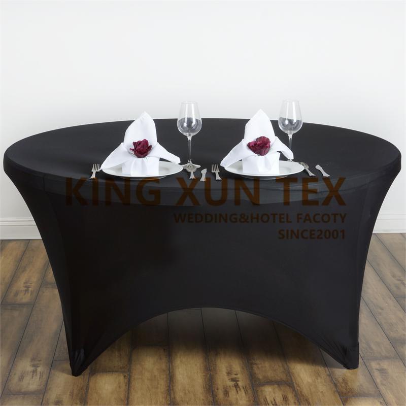 Couverture ronde Spandex Table Couverture Toile Stretch Nappe pour la décoration de l'événement de mariage Y200421