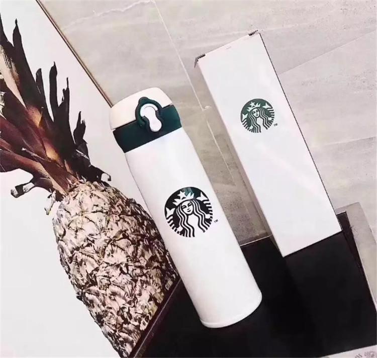 2021 16 oz Starbucks Erkekler ve Kadınlar Kahve Bardakları Ile Favori Kupalar Paslanmaz Çelik Bardaklar Destek Özel Logo Ücretsiz Kargo