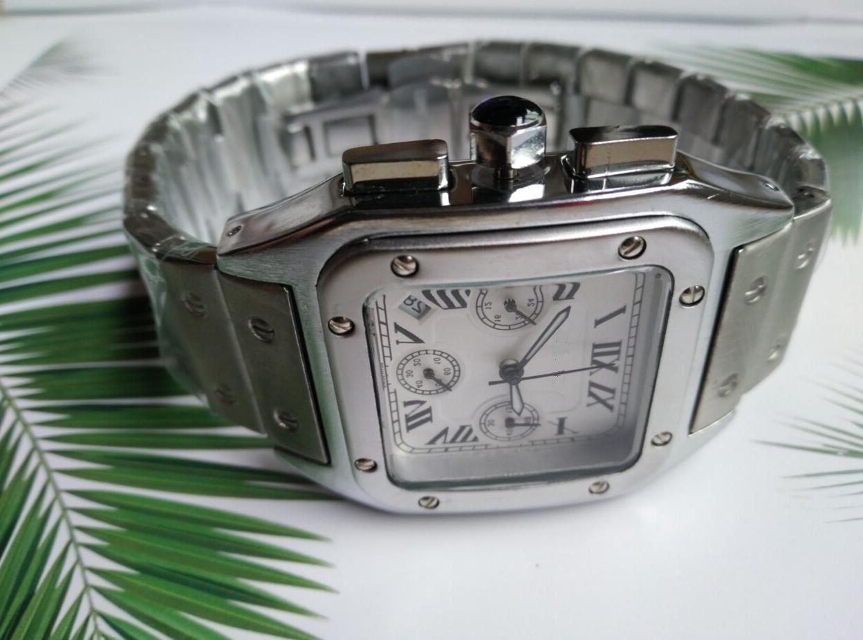 TODOS OS DIS MOTOS Moda Estilo Clássico 42mm Aço Inoxidável Sports Watch Sapphire Espelho com alta qualidade