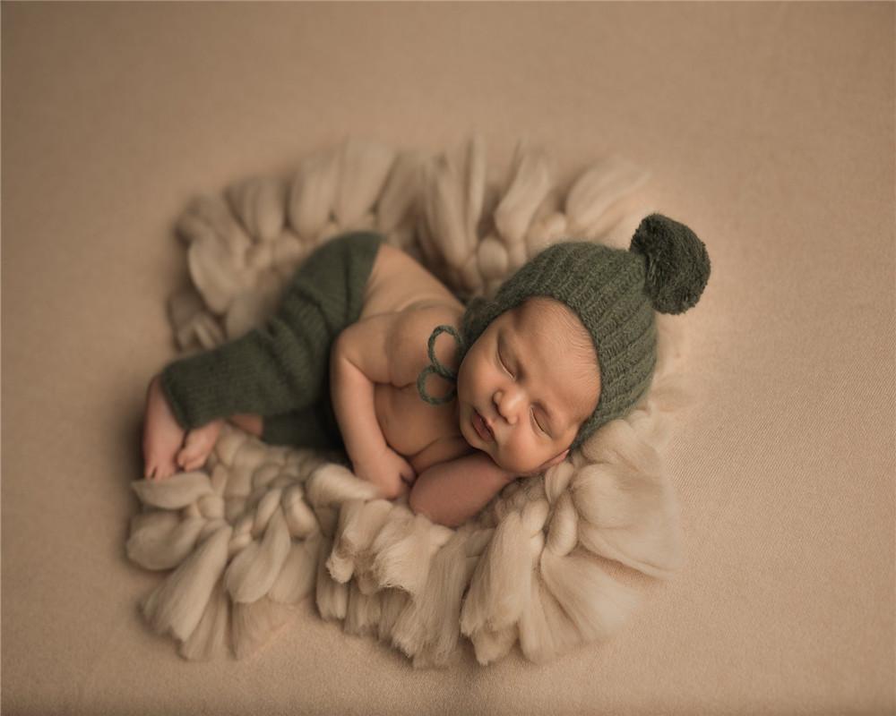 3Cross-граница Новая детская фотография одежда новорожденного детское фото одеяло толстая шерсть тканый квадрат декоративное одеяло