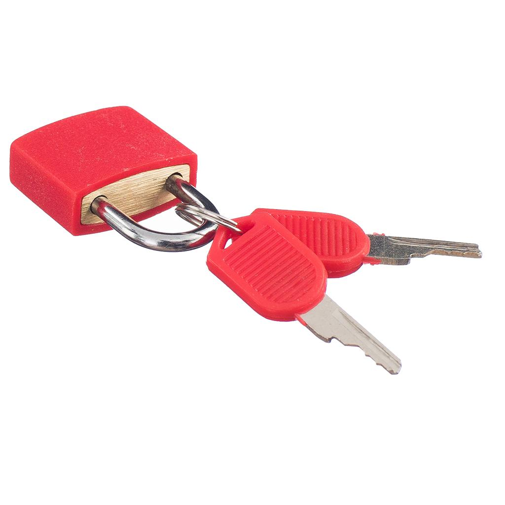 2 x Padlock W. Keys SuitCase Sac de bagages Serrures de sécurité pour Voyage Rouge + Bleu