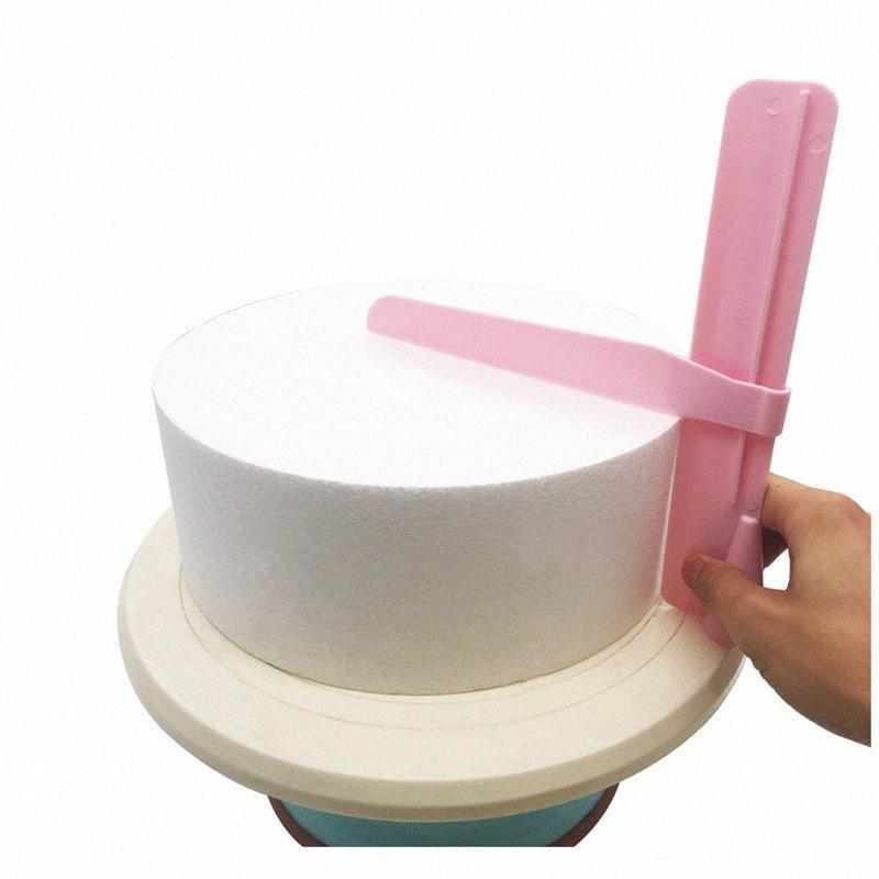 Kuchen Scraper Glatter Einstellbare Fondant Spachteln Kuchen Kantenglätter Creme Dekorieren DIY Bakeware Geschirr-Küche-Werkzeug 3qR5 #