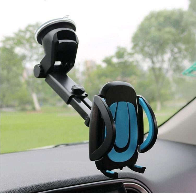 Newly Car Phone Holder Gps Accessories Suction Cup Auto Dashboard Windshield Mobile Cell Phone Retractable Mount Stand (Retail )
